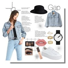 """""""Gap"""" by yumyv ❤ liked on Polyvore featuring Gap, Rosendahl, Puma, Pieces, Miss Selfridge and NARS Cosmetics"""