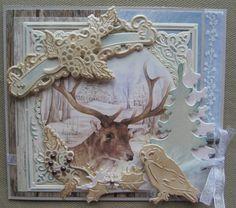 M.K - Winter gemaakt het uit boekje (winterkaarten)   van Petra Van Dam.
