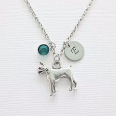 "-""Dog Boxer Pewter Necklace"" - BD Luxe Dogs & Supplies - 1"
