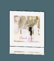 Foto bedankkaartje met foto huwelijk