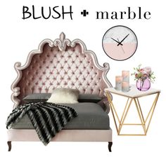 """""""Bed- Blush and Marble"""" by parisluv ❤ liked on Polyvore featuring interior, interiors, interior design, home, home decor, interior decorating, Haute House, Nuevo, LSA International and homedecor"""