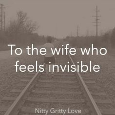 When I was young, I used to think being invisible would be a fabulous super power. I have since changed my mind after being ignored too many times. Deep down, people want to be seen, heard, and loved. Countless women go to bed each night wondering if they Marriage Relationship, Love And Marriage, Failing Marriage Quotes, Lonely Marriage, Marriage Quotes Struggling, Lonely Wife, Alone In Marriage, Lonely Quotes Relationship, Relationships