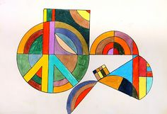 For the Love of Art: 6th Grade: Frank Stella Protractor Series