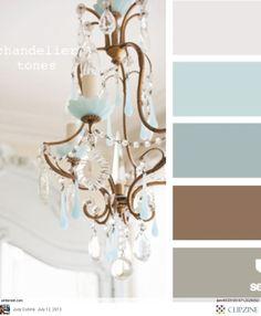 Color Palettes - beautiful painted chandelier
