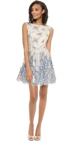 alice + olivia Fila Flare Box Pleat Dress | SHOPBOP