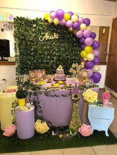 Rapunzel / Tangled Birthday Party Ideas | Photo 1 of 6 | Catch My Party Princess Theme Birthday, Rapunzel Birthday Party, Sofia The First Birthday Party, Tinkerbell Party, Birthday Party For Teens, Princess Party, Birthday Party Themes, Princess Sophia, Birthday Party Centerpieces