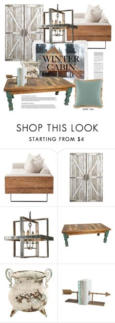 """Cozy Cabin Style"" by heather-reaves ❤ liked on Polyvore featuring interior, interiors, interior design, home, home decor, interior decorating, Pier 1 Imports, Benzara, Cyan Design and Lacefield Designs"