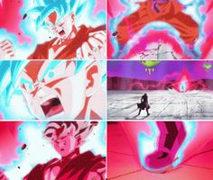 Son Goku/ Super Saiyan Blue + Kai-oken = Double speed & D. power! Goku once…