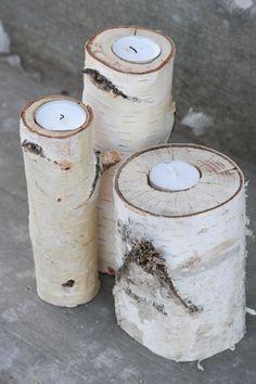 Birch wood candles SO pretty!