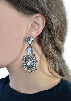 Vintage Style Pink Statement Earrings 15,90 € #happinessbtq