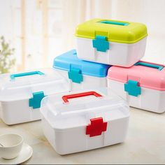 Small medical kit home portable multilayer medical boxes drug storage box…