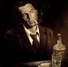 Frank Sinatra and Jack Daniels. Two of my favorite things Dean Martin, Frank Sinatra Lyrics, Frank Sinatra Poster, Franck Sinatra, Music Happy, Jazz Artists, Dark Photography, Music Icon, Music Music