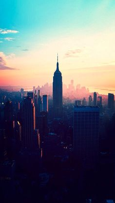 Colorful New York City Skyline #iPhone 5 #Wallpaper