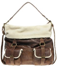 5bbc74d8fb ASOS faux shearling slouch bag