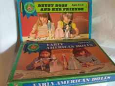 Betsy Ross & Friends Early American Dolls Paper Doll Set Lot of 2 in box