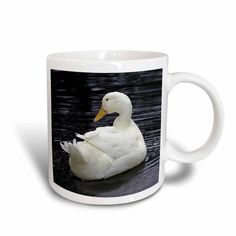 3dRose White Pekin Duck, Ceramic Mug, 11-ounce