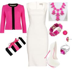 """Passionate pink"" by tianacos on Polyvore"
