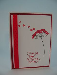 Stampin' Up Dandelion Hearts Valentine's Day Card