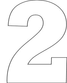 Number two printable template pinterest math number 2 google search pronofoot35fo Image collections