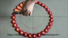 Very Simple and Easy Rangoli for Diwali Festival Happy Diwali Rangoli, Easy Rangoli Designs Diwali, Simple Rangoli Designs Images, Rangoli Designs Latest, Rangoli Designs Flower, Small Rangoli Design, Rangoli Ideas, Rangoli Designs With Dots, Rangoli With Dots