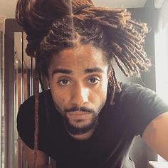 @iamleongrey ・・・ Hope everyone is having a good Sunday God bless  #iamlocd #locs #locd #locnation Dread Hairstyles, African Hairstyles, Cool Hairstyles, Mens Dreadlock Styles, Dreads Styles, Dreadlocks Men, Locs, Mohawk For Men, Man Bun