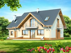 Contemporary Two Storey Home Idea 1 Country House Plans, Small House Plans, Storey Homes, Cute House, Design Case, Home Fashion, Bungalow, Beautiful Homes, Home Goods