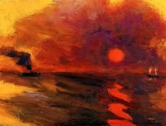 Emil Nolde Sunset - The Largest Art reproductions Center In Our website. Emil Nolde, Landscape Art, Landscape Paintings, Watercolor Paintings, Oil Paintings, Kandinsky, Nocturne, Max Oppenheimer, George Grosz
