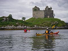 Kayak Scotland | Kayaking through history as we pass the numerous Scottish castles and island's, with the remnants of what was once thriving communities.