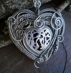 Gothic Steampunk Eye Heart Pendant by twistedsisterarts on Etsy, $79.95