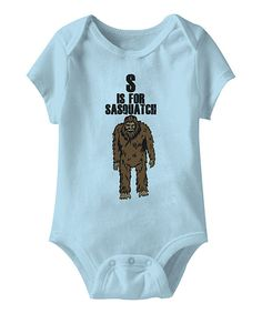 Look at this American Classics Light Blue 'S is for Sasquatch' Bodysuit - Infant on #zulily today!