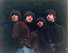 The actual uncropped Rubber Soul photo, I never saw this one before!