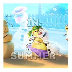 When I finally do what frozen things do in summer!