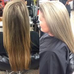 I got to finally do my grandma's hair again! She was my model for school and last time I did a partial highlight. This time we went for the full highlight and I toned out all of the brass and she loves it! #highlights #aveda #avedainstitute #avedacolor #avedacolumbus #blonde #ash #beauty #hair #cosmetology #student
