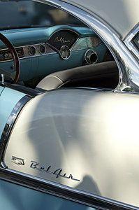 1955 Chevrolet Belair Dashboard 2 Print by Jill Reger