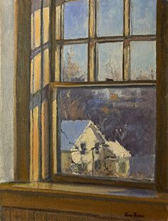 "View from the Depot Window by JONI JUREK Oil ~ 12"" x 9"""