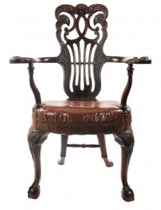 Nineteenth Century Dublin Chippendale Armchair : Lot 962