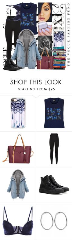 """1st DAY!"" by thatshowitsdone ❤ liked on Polyvore featuring Casetify, 7 For All Mankind, Topshop, SPANX, Converse, La Perla, Essie, Maria Black and Miss Selfridge"