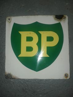 BP Gas Antique Porcelain Sign
