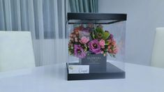 Flower boxes are the modern way to offer happiness Flower Boxes, Flowers, Flower Arrangements, Glass Vase, Bring It On, Happiness, Concept, Modern, Home Decor