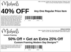 Pinned October 22nd: 40% off a single item and more at Michaels #coupon via The Coupons App