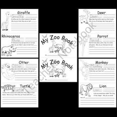 Kindergarten Zoo Animal Worksheets product from Kindergarten-Supplies on TeachersNotebook.com