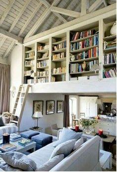Kanske någon liknande bokhylla istället för ett helt bibliotek? Kommer ha måånga böcker om åtta-tio år!