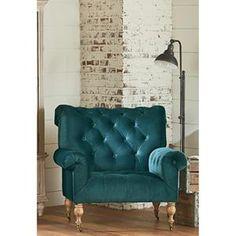 Carpe Diem Upholstered Chair in Peacock | Nebraska Furniture Mart