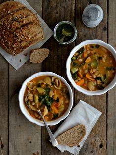 Comida de conforto e uma minestrone