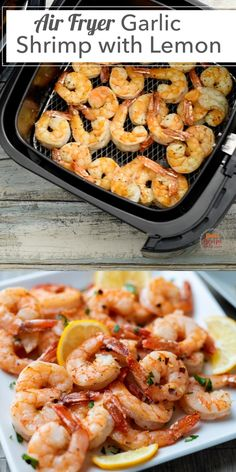 Air Fryer Recipes Shrimp, Air Fryer Recipes Videos, Air Frier Recipes, Air Fryer Dinner Recipes, Air Fryer Recipes Easy, Shrimp Recipes Easy, Easy Healthy Recipes, Easy Meals, Lemon Shrimp Recipe