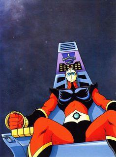 Actarus Robot Cartoon, Cartoon Art, Devilman Amon, Ulysse 31, Japanese Superheroes, Vintage Videos, Prince, Super Robot, Animation