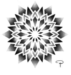 Geometric Tattoo Pattern, Geometric Mandala Tattoo, Geometric Drawing, Geometric Pattern Design, Geometry Tattoo, Geometric Flower, Mandala Tattoo Design, Animal Mandala Tattoo, Dotwork Tattoo Mandala