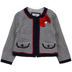 Mayoral Ink Navy Striped Jacket - DesignerChildrenswear.com