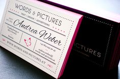 Typografie  |  WORDS & PICTURES Text Pictures, Text Design, Hand Lettering, Branding Design, Advertising, Card Holder, Words, Business Cards, Typography