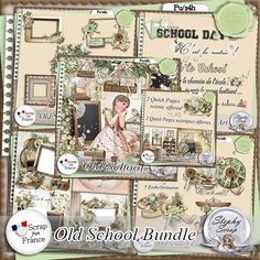 collection Old School by Stephy Scrap http://scrapfromfrance.fr/shop/index.php?main_page=product_info&cPath=88_260&products_id=7267